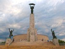 Estatua de la libertad en Budapest, Hungría Fotos de archivo libres de regalías