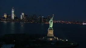 Estatua de la libertad en la noche metrajes