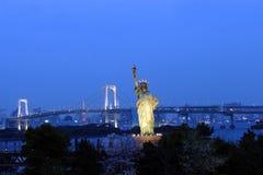 Estatua de la libertad en Tokio Imagen de archivo libre de regalías