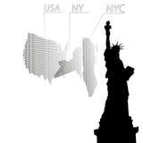Estatua de la libertad, Nueva York stock de ilustración