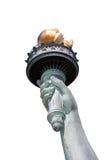 Estatua de la mano de la libertad aislada Imagen de archivo
