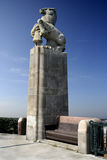 Estatua de la muchacha y del caballo Foto de archivo