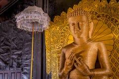 Estatua de la paja de Buda, lago Inle, Myanmar (Birmania) Imagen de archivo