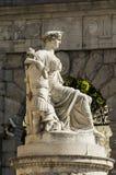 Estatua de la paz Udine, Friuli, Italia Foto de archivo
