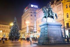 Estatua de la prohibición Josip Jelacic Fotos de archivo libres de regalías