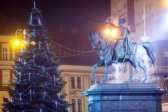 Estatua de la prohibición Josip Jelacic en Zagreb Fotografía de archivo libre de regalías