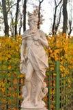 Estatua de la puesta del sol de la alegoría en la tarde imágenes de archivo libres de regalías