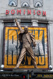 Estatua de la reina del Mercury de Freddie del teatro del dominio Imagenes de archivo