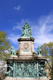 Estatua de la reina Victoria, cuadrado de Dalton, Lancaster imágenes de archivo libres de regalías