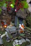 Estatua de la religión de la escena de la natividad de la Navidad imagen de archivo