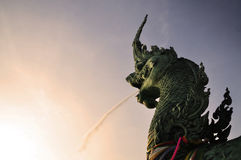 Estatua de la serpiente Imagenes de archivo
