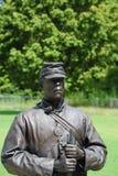 Estatua de la unión afroamericana Solider en el parque de la libertad, Helena Arkansas Imágenes de archivo libres de regalías