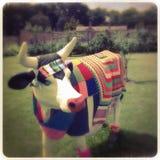Estatua de la vaca Imagen de archivo libre de regalías