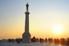 Estatua de la victoria, Belgrad fotos de archivo