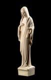 Estatua de la Virgen María en negro Fotos de archivo libres de regalías
