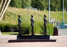 Estatua de las olimpiadas de invierno de Lillehammer Foto de archivo