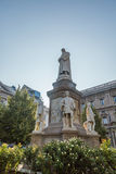 Estatua de Leonardo Da Vinci Fotografía de archivo
