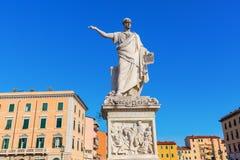 Estatua de Leopold II en Livorno, Italia Imagenes de archivo
