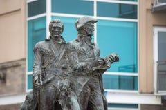 Estatua de Lewis y de Clark fotografía de archivo libre de regalías