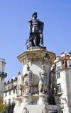 Estatua de Lis de Camoes Fotos de archivo libres de regalías