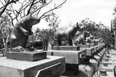 Estatua de los animales Fotografía de archivo