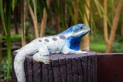 Estatua de los camaleones Imagen de archivo libre de regalías