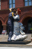 Estatua de los pares del baile Imagen de archivo libre de regalías
