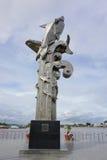 Estatua de los pescados vagos Sa en la ciudad de Chau doc. imagen de archivo