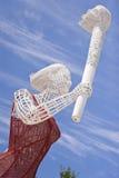 Estatua de los portadores de la antorcha en Pekín el estadio Olímpico Foto de archivo libre de regalías