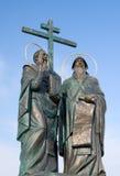 Estatua de los santos Cyril y Methodius fotografía de archivo