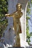 Estatua de los strauss de Juan Fotos de archivo
