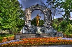 Estatua de los strauss de Juan Imagen de archivo libre de regalías