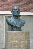 Estatua de Ludwig Mack en Tromso, Noruega Imagenes de archivo