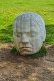 Estatua de mármol de una cabeza, Cartagena, España Imágenes de archivo libres de regalías
