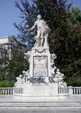 Estatua de mármol Viena de Mozart Imagenes de archivo
