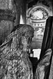 Estatua de madera de la iglesia parroquial de San Jorge Imagen de archivo