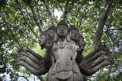 Estatua de madera de Tailandia Imagenes de archivo