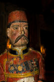 Estatua de madera de un oficial turco Foto de archivo