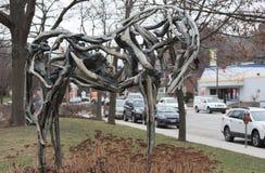 Estatua de madera del caballo imagen de archivo