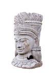 Estatua de madera en fondo blanco aislado Imágenes de archivo libres de regalías