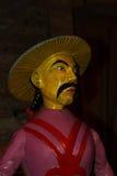 Estatua de madera en los artes Forains del DES de Musée en París Foto de archivo libre de regalías