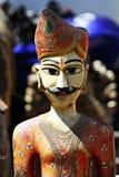 Estatua de madera en Rajasthán Fotografía de archivo