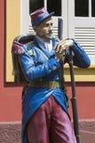 Estatua de madera militar del vintage, Manaus, el Brasil fotos de archivo