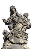 Estatua de Madonna, del St Dominic y de Thomas Aquinas en Charles Fotos de archivo libres de regalías