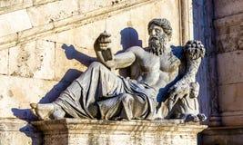 Estatua de Marforio en el dei Conservatori de Palazzo Imagen de archivo