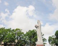 Estatua de Maria en la catedral de Notre Dame Fotos de archivo libres de regalías