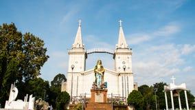 Estatua de Maria y de Jesús Imágenes de archivo libres de regalías