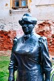 Estatua de Marija Juric Zagorka, Zagreb, Croacia foto de archivo libre de regalías