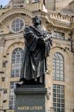 Estatua de Martin Luther en Dresden Foto de archivo libre de regalías