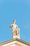 Estatua de Matilde di Canossa en San Benedetto Po, Italia Imagen de archivo libre de regalías